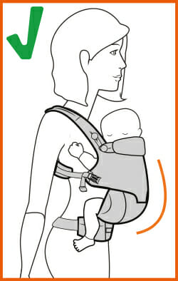 Image result for m shaped position baby carrier