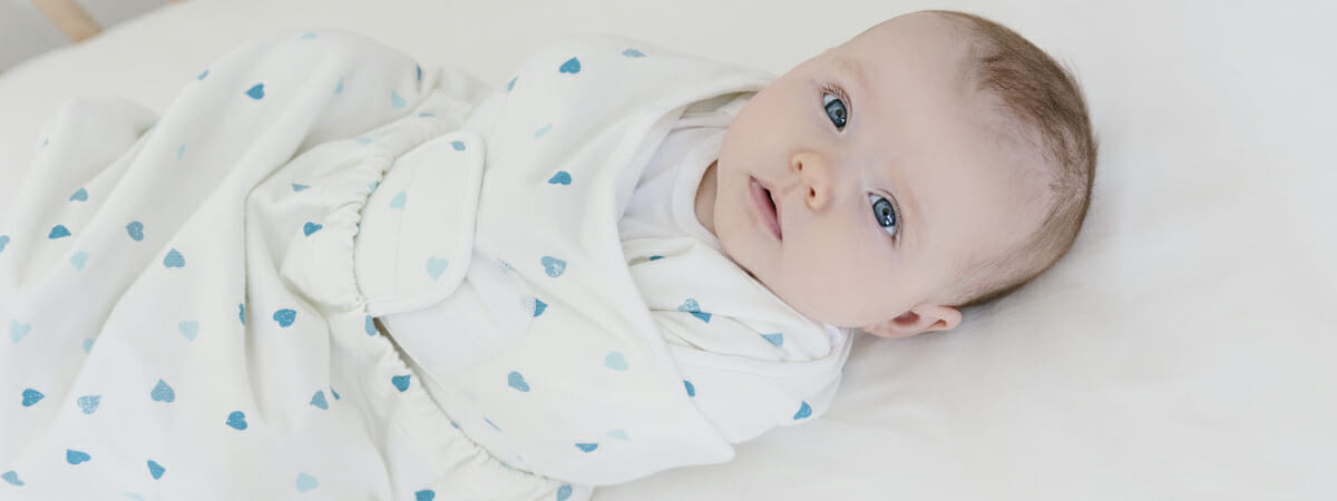 Ergobaby UK | Safe Sleep Tips | Swaddler in Heart to Heart