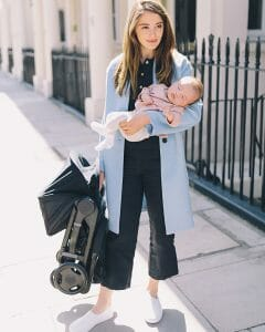 Ergobaby | Folded Metro Stroller with Newborn Kit