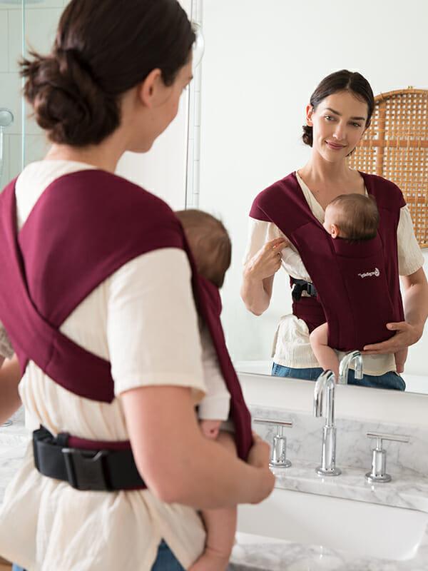 Ergobaby Embrace Newborn Baby Carrier | Burgundy