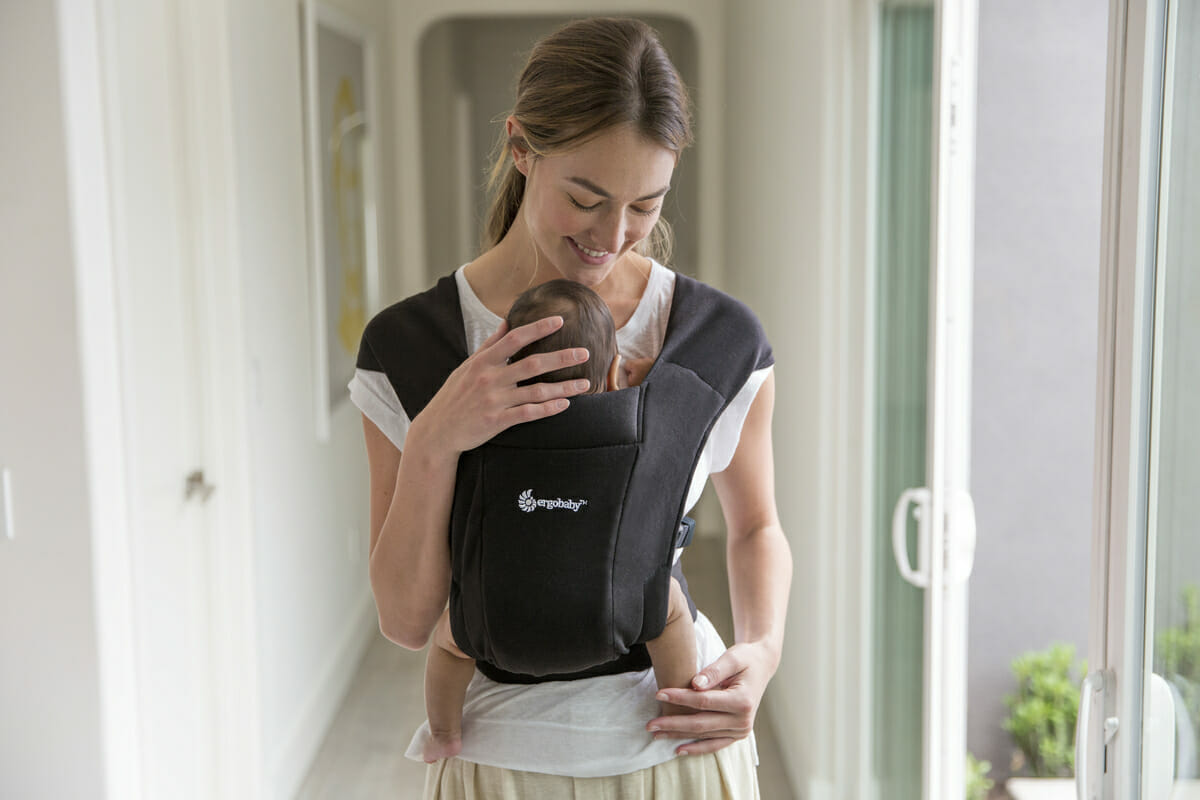 Embrace... Trust Your Instincts | Ergobaby Embrace Newborn Baby Carrier in Black
