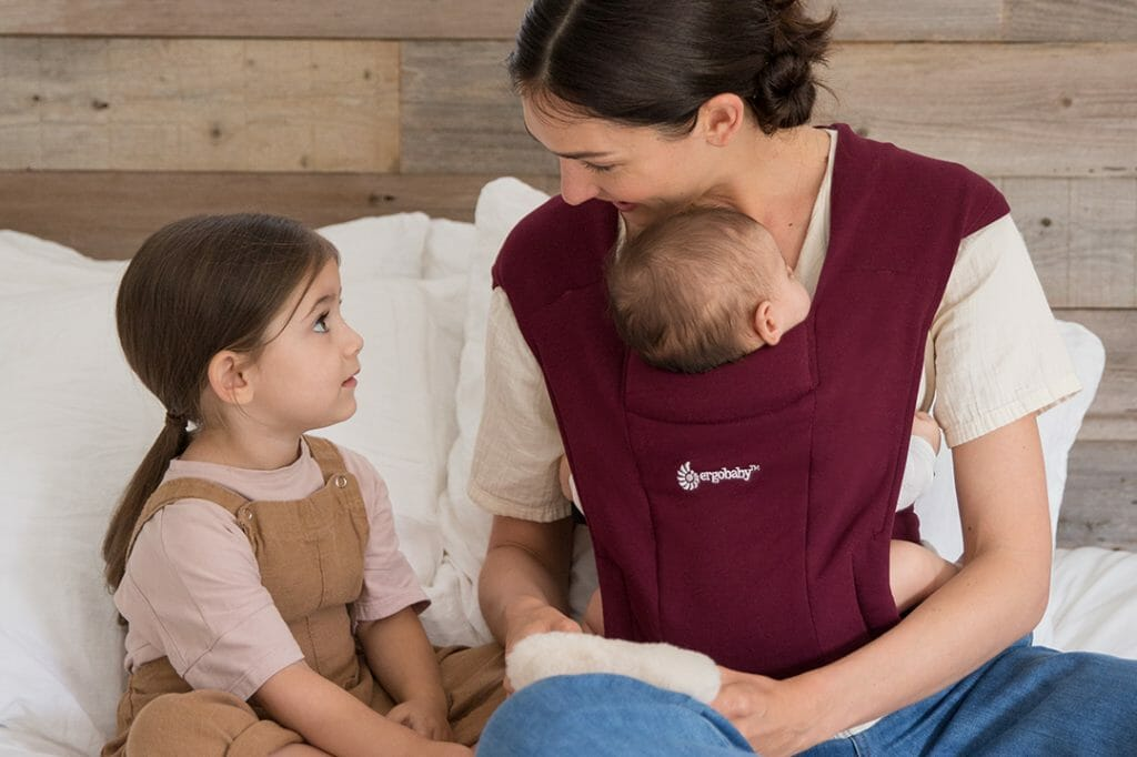 Ergobaby Embrace Newborn Carrier in Burgundy | Ergobaby